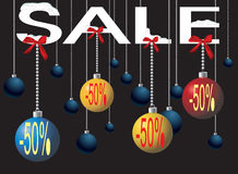Christmas ball. Many-coloured ball inform about  christmas sale Stock Photo