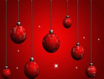 Christmas ball. Chistmas red ball with christmas decoration Royalty Free Stock Images
