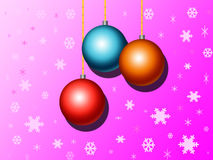 Christmas ball. Christmas card in 3d with christmas decoration Stock Photography