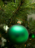 Christmas ball. On christmas tree royalty free stock photo