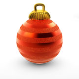 Christmas ball. 3d colorful christmas ball isolated on white background Royalty Free Stock Images