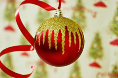 Christmas ball. Beautiful red Christmas ball with amazing colors Stock Images