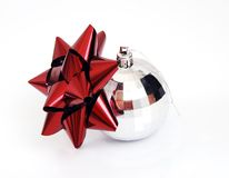 Christmas ball. Isolated on white background Royalty Free Stock Image