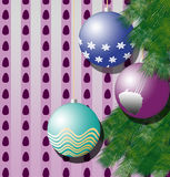 Christmas ball 2. Christmas balls of different colors with ornament Royalty Free Stock Image