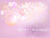 Christmas ball 2. Decorative Christmas postcard, vector illustration Royalty Free Stock Photography