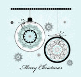 Christmas ball. With snowflake and curl Stock Images