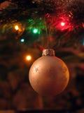 Christmas ball. The ball on the christmas tree royalty free stock image