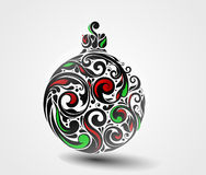 Christmas Ball. Made by swirling flourishes - vector illustration Stock Image