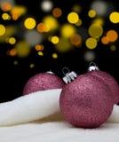 Christmas ball. Christmas ball on abstract light background Stock Photo