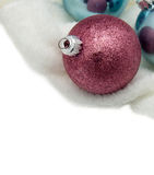 Christmas ball. Christmas ball with a white background Royalty Free Stock Photo