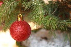 Christmas Ball. On a Christmas tree Stock Photo