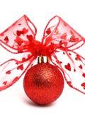 Christmas ball. Red christmas ball – isolated Stock Image