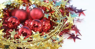 Christmas ball. On white background Royalty Free Stock Photography