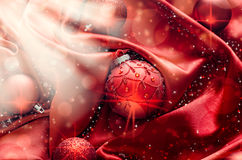 Christmas ball. On abstract light background,Shallow Dof Stock Photo