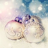 Christmas ball. On abstract light background,Shallow Dof Royalty Free Stock Photography