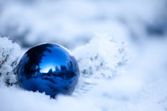 Christmas ball. Christmas winter background. Ornaments ball Stock Photography