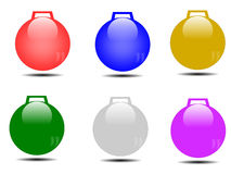 Christmas ball. Decorated christmas balls white background Stock Photo