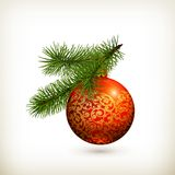 Christmas ball royalty free illustration
