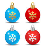 Christmas ball. Beauty, blue, brittle,celebration glossy gold Stock Images