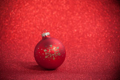 Christmas ball. On a beautiful background with shallow depth of field Royalty Free Stock Photos