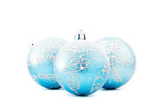 Christmas ball. Blue christmas ball isolated on white Royalty Free Stock Photography