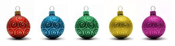 Christmas ball. A set of colored christmas balls Stock Image