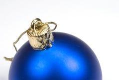 Christmas ball. Blue christmas ball Royalty Free Stock Image