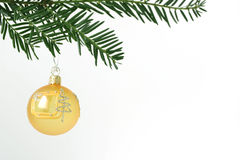 Christmas ball. Orange christmas ball. Christmas decoration Stock Image