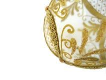 Christmas Ball. Gold transparent beautiful christmas ball Royalty Free Stock Photography