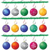 Christmas ball. Over white background, vector royalty free illustration
