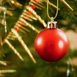 Christmas ball. Traditional czech christmas tree decoration Royalty Free Stock Photography