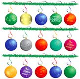 Christmas ball. Over white background, vector Royalty Free Stock Image