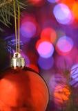 Christmas ball. On illuminated background Royalty Free Stock Photo