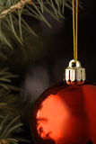 Christmas ball. On black background Stock Photo