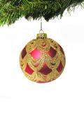 Christmas Ball. A photo of a Christmas ornament hanging on a tree Stock Image