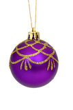 Christmas ball. On white royalty free stock image