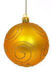 Christmas ball. On white royalty free stock photography