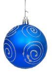 Christmas ball. Blue christmas ball Stock Photo