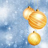 Christmas ball on abstract blue lights. EPS 10. Christmas ball on abstract blue lights background. EPS 10 vector file included Royalty Free Stock Photo
