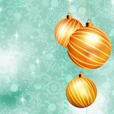 Christmas ball on abstract blue lights. EPS 10. Christmas ball on abstract blue lights background. EPS 10 vector file included Royalty Free Stock Image