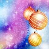 Christmas ball on abstract blue lights. EPS 10 Stock Photo