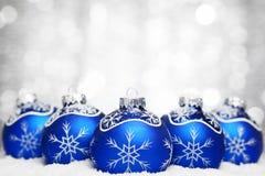 Christmas ball on abstract light background Stock Photography
