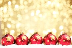Christmas ball on abstract light background Royalty Free Stock Photography