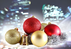 Christmas ball on abstract light background Stock Photography