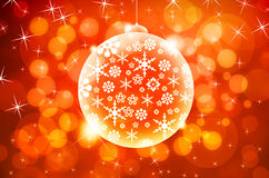 Christmas ball on abstract light background Stock Image