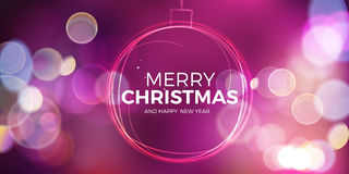Christmas ball. Abstract sparkling circle on pink background. Stock Photography