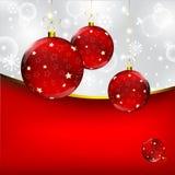 Christmas ball on abstract winter gray Royalty Free Stock Photo