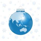 Christmas Ball Asia Australia World Snow Royalty Free Stock Images