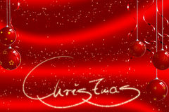 Christmas ball background. Christmas balls on a red background with star shapes stock illustration