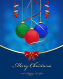 Christmas ball background. Christmas greetings background with balls Stock Images